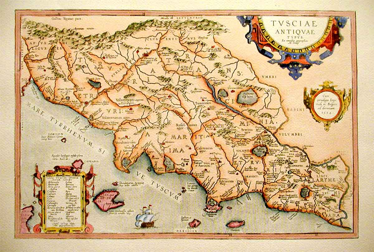 Toscana antiche mappe florence prints le stampe di for Firenze medievale