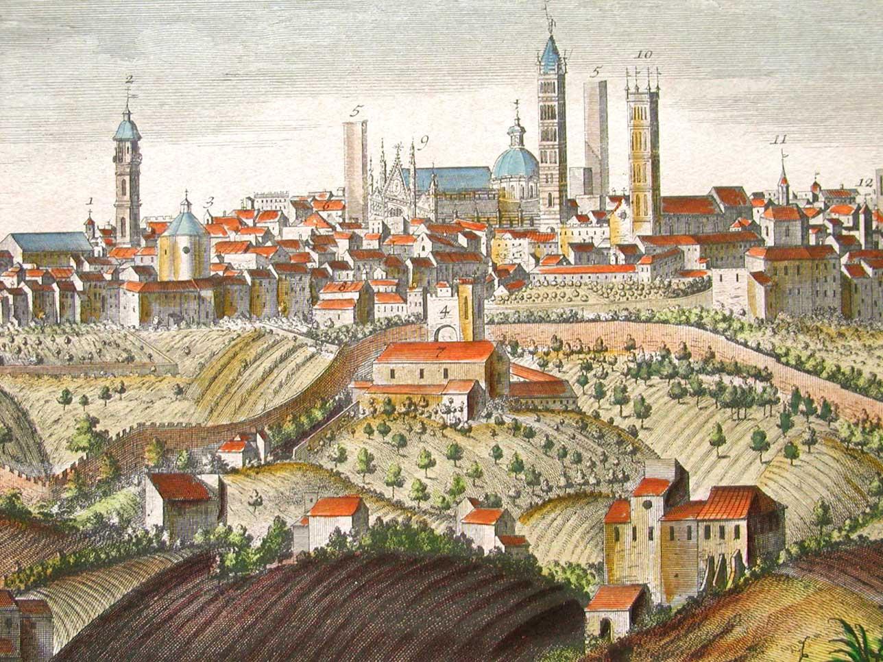 Vedute di siena florence prints le stampe di firenze for Firenze medievale